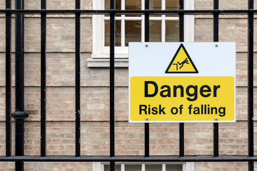 risk of falling sign