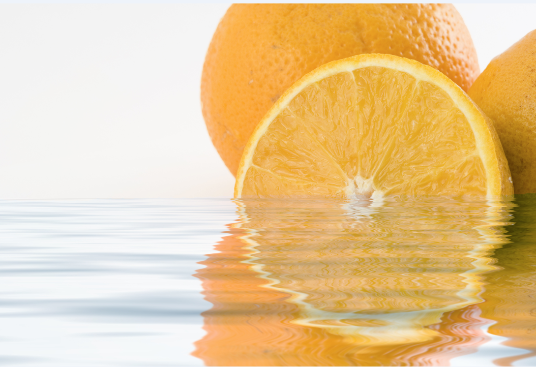 Oranges and water